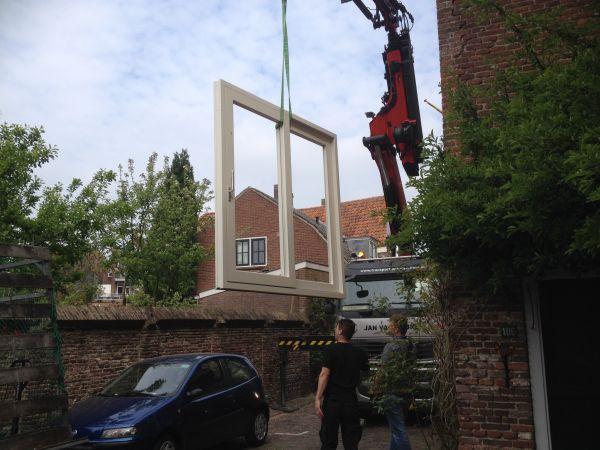 Hardhouten schuifpui Muurhuizen Amersfoort