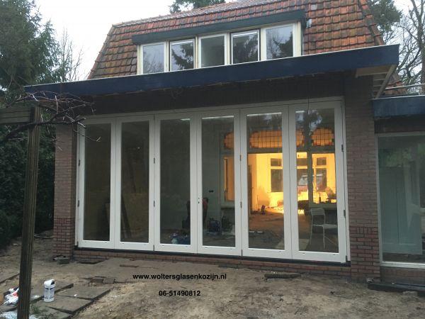 Vouw/schuifpui geleverd en geplaatst te Bilthoven.
