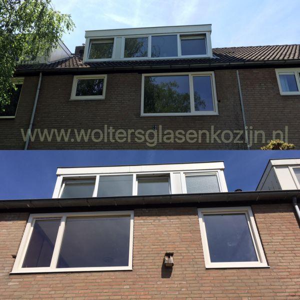 Vervangen aluminium kozijnen door Gealan kunststof kozijnen Elkerlijkpad 12 Amersfoort.